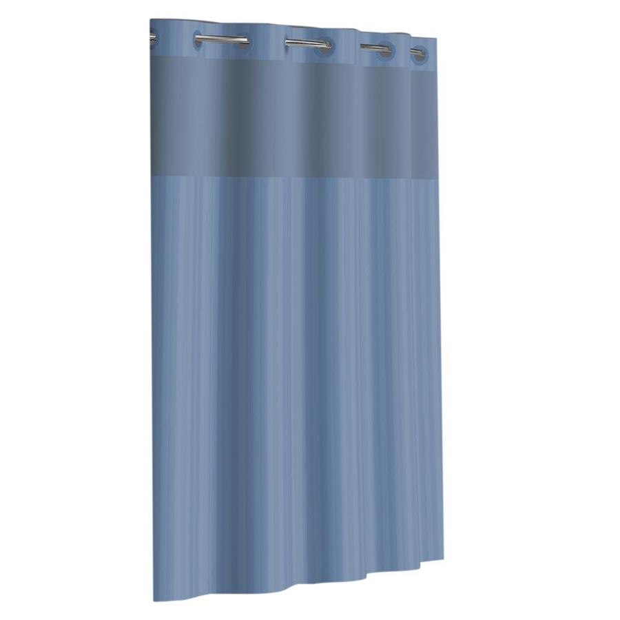 hookless 71 in polyester solid solid shower curtain