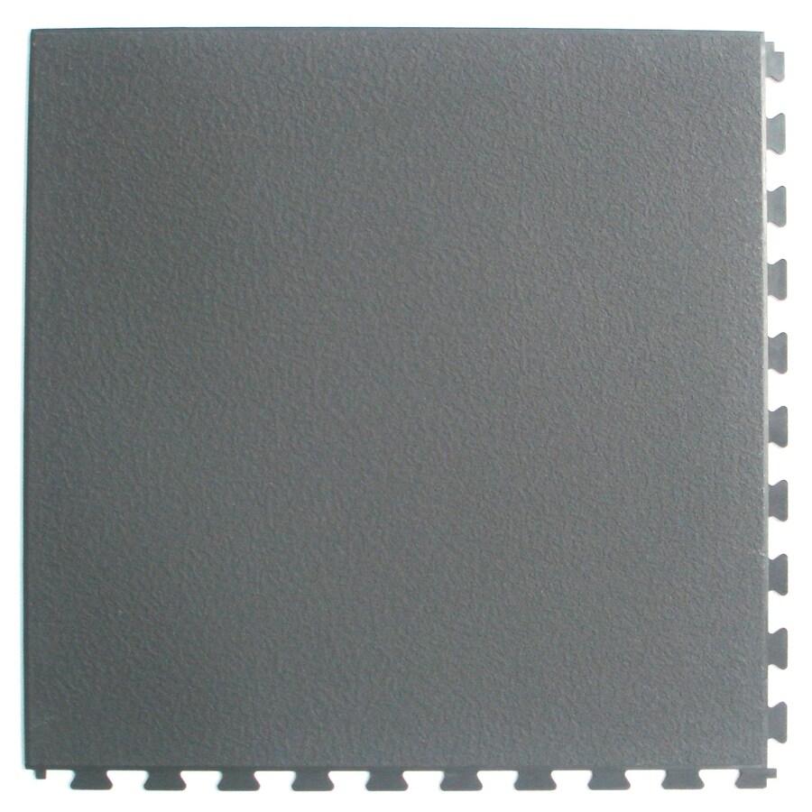 blue hawk 0 18 in x 18 5 in x 18 5 in dark grey slate vinyl plastic tile multipurpose flooring