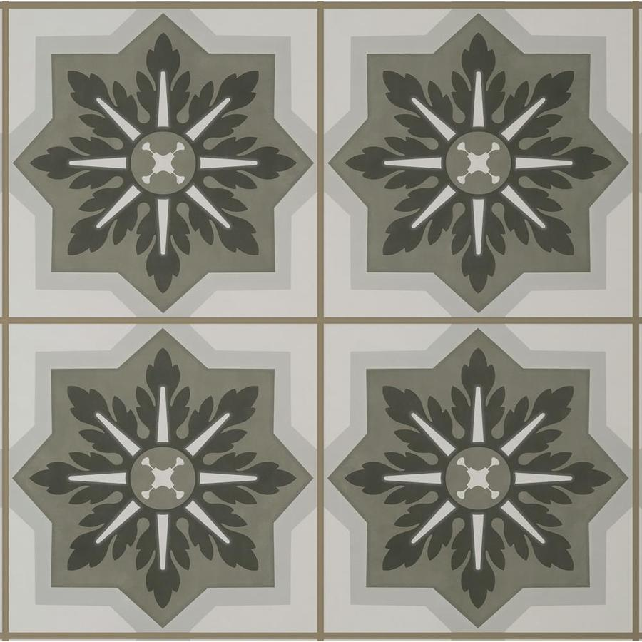 style selections multi color 9 in x 9 in groutable water resistant peel and stick vinyl tile 0 5625 sq ft