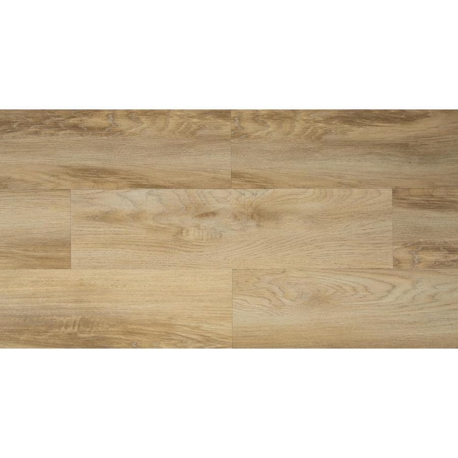 style selections flaxen oak wide thick water resistant peel and stick luxury 1 sq ft lowes com