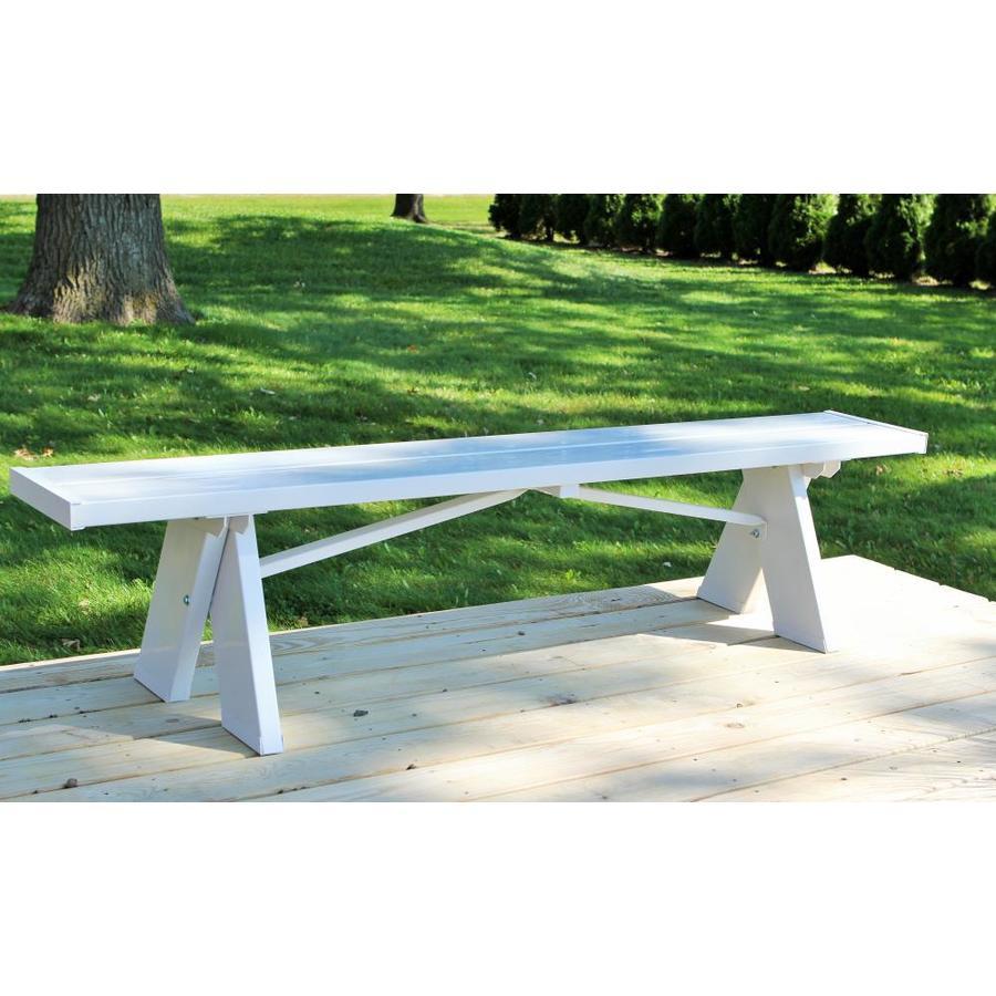 dura trel 72 in w x 16 in l white in bench