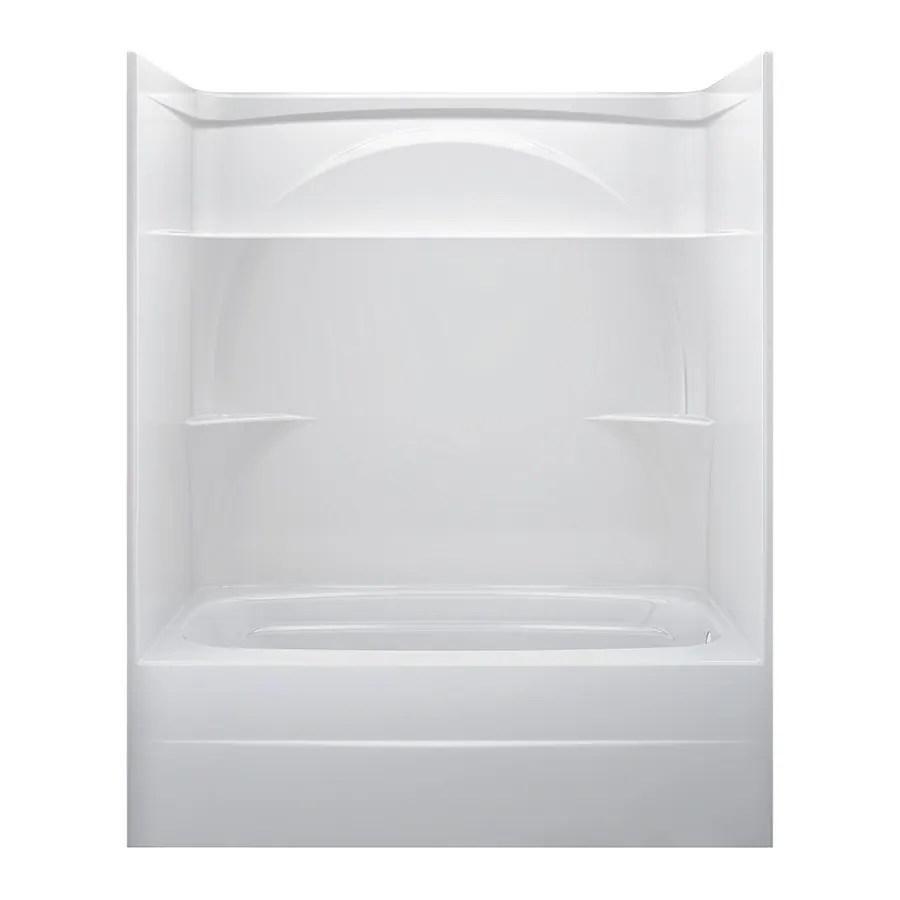 Shop Delta White Acrylic One Piece Bathtub Common 32 In