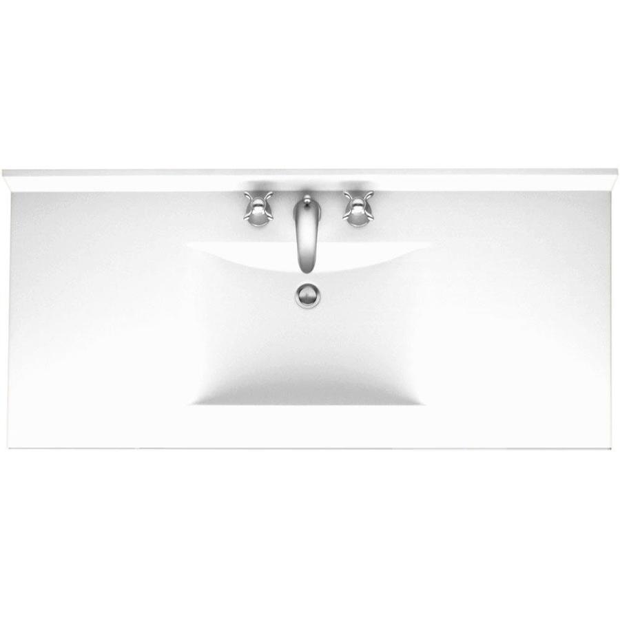 swan contour 43 in white solid surface single sink bathroom vanity top
