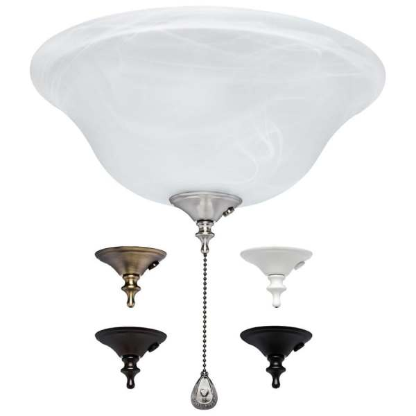 Shop Ceiling Fan Light Kits at Lowes com Harbor Breeze 3 Light Alabaster Incandescent Ceiling Fan Light Kit with  Alabaster Glass Shade