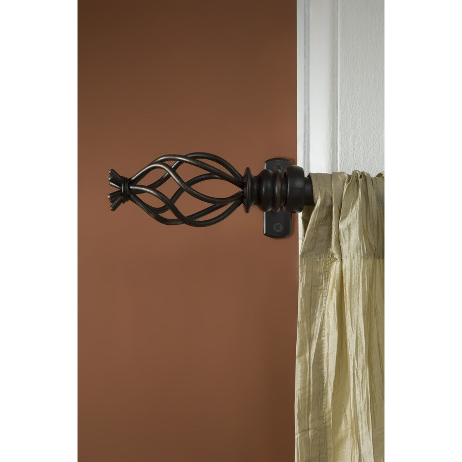 allen roth 36 in to 72 in aged bronze steel single curtain rod in the curtain rods department at lowes com