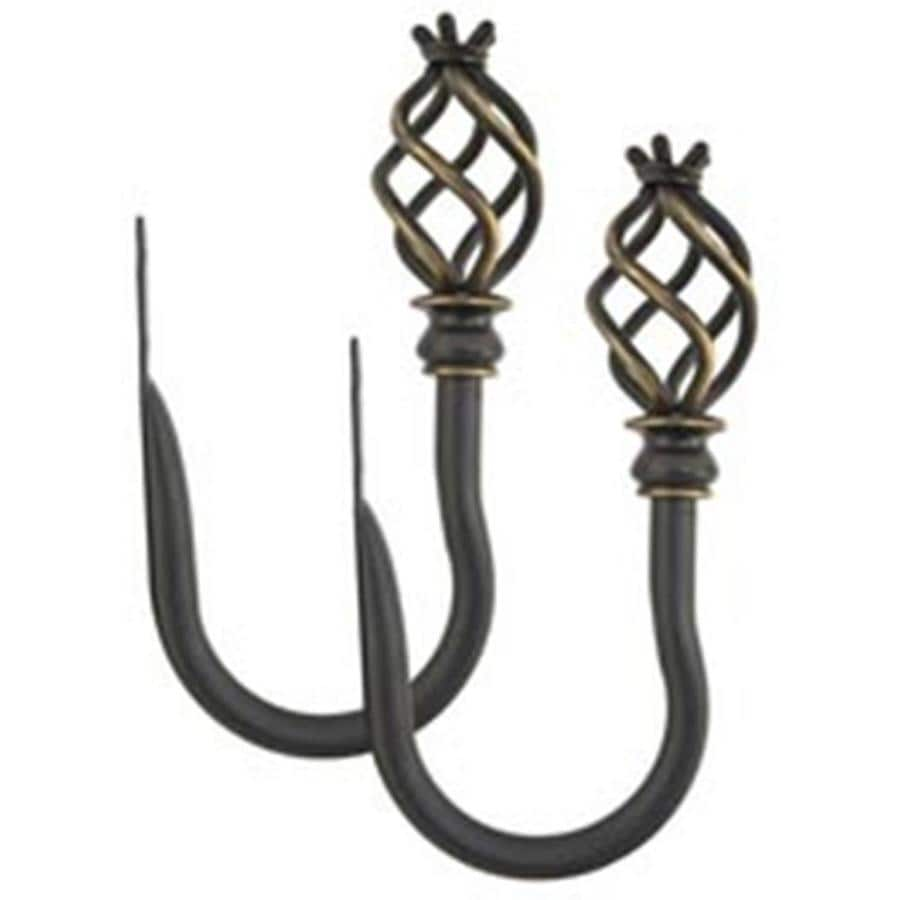 allen roth 2 pack 7 in aged bronze curtain holdbacks