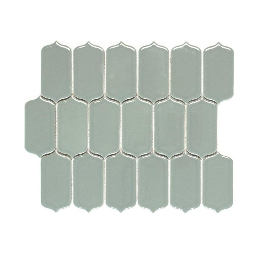bedrosians isabella steel 10 in x 12 in glazed ceramic lantern wall tile
