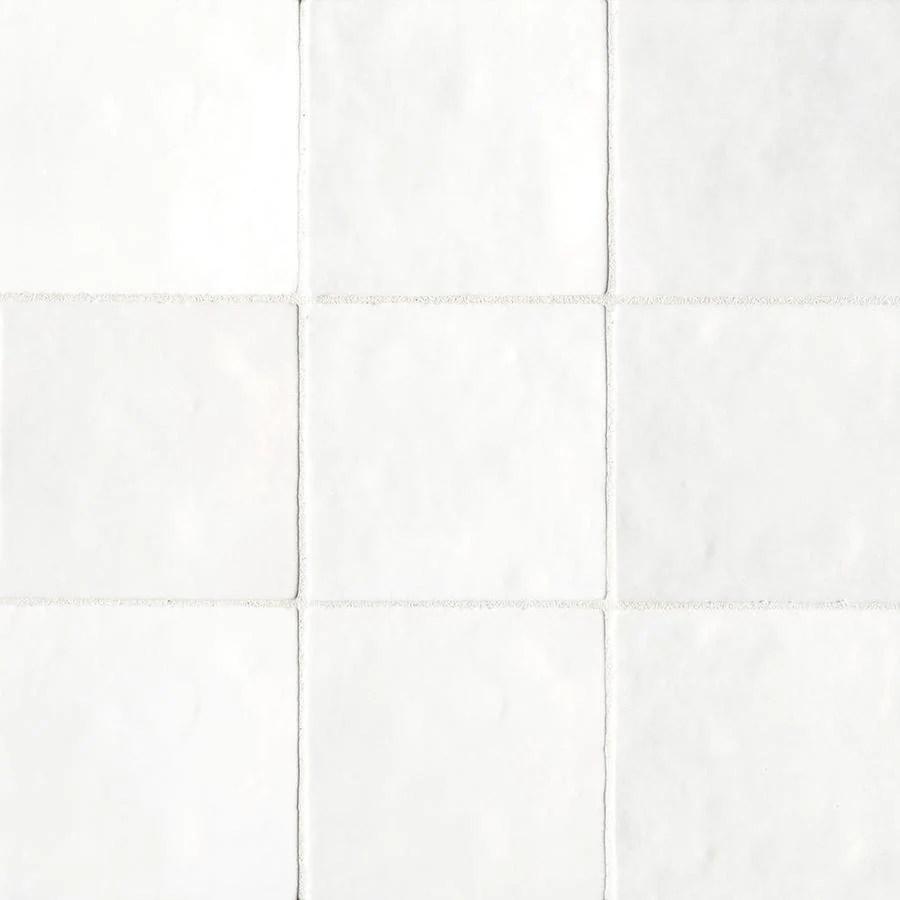 bedrosians cloe 57 pack white 5 in x 5 in glossy ceramic wall tile