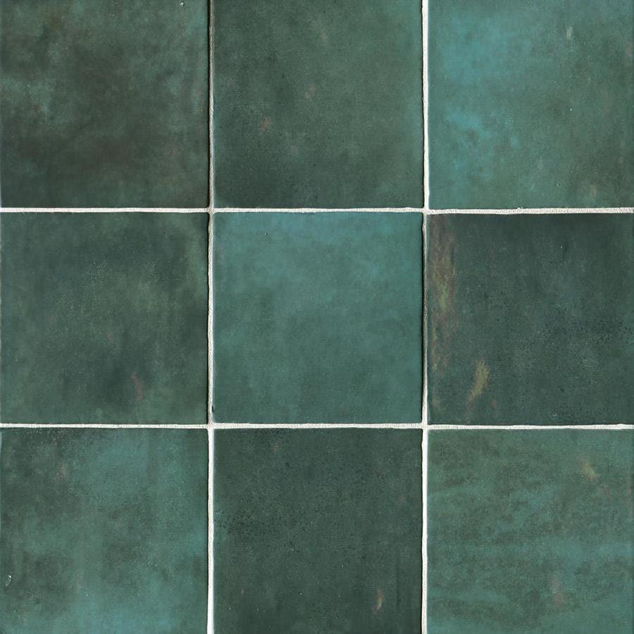 bedrosians cloe 57 pack green 5 in x 5 in glossy ceramic wall tile