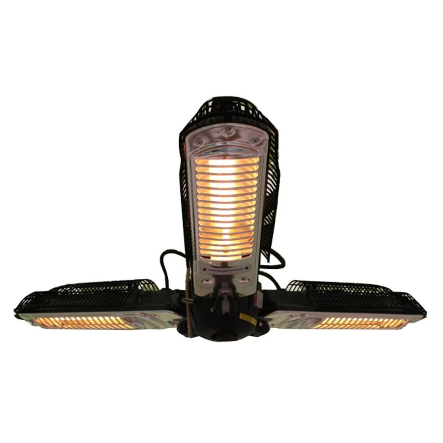well traveled living 5118 btu 110 volt black steel electric patio heater