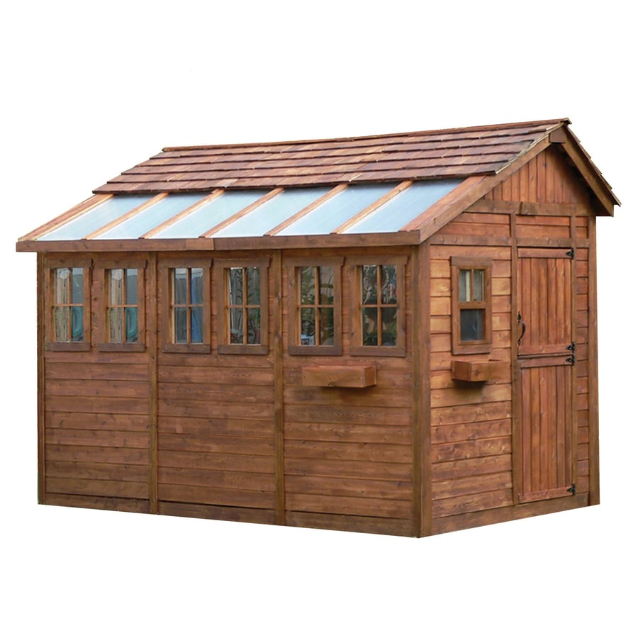Shop Outdoor Living Today Saltbox Cedar Storage Shed ... on Outdoor Living Shop id=69761