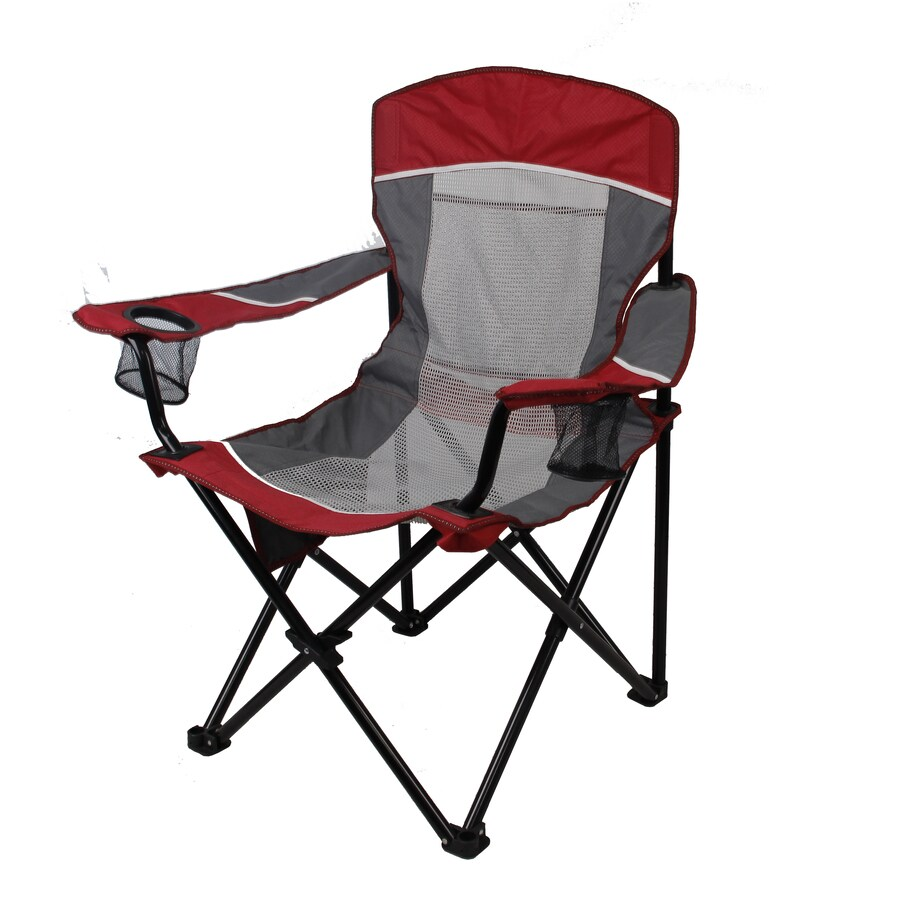 garden treasures red grey folding camping chair