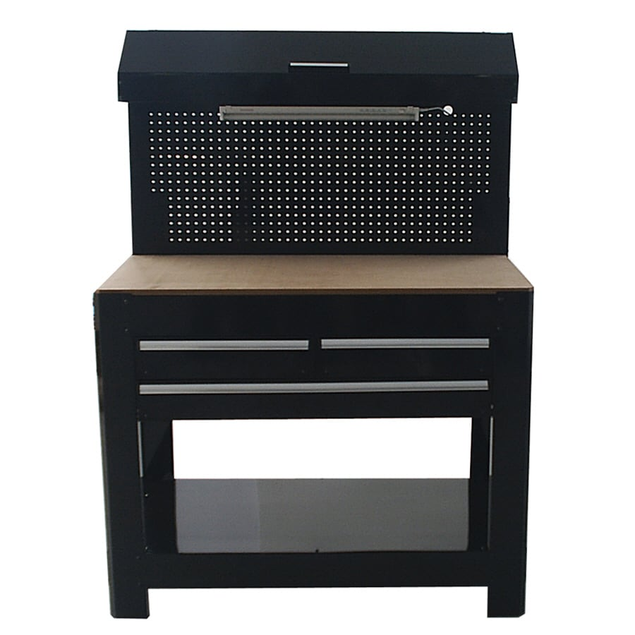 Shop Kobalt 45 In W X 36 In H 3 Drawer Wood Work Bench At