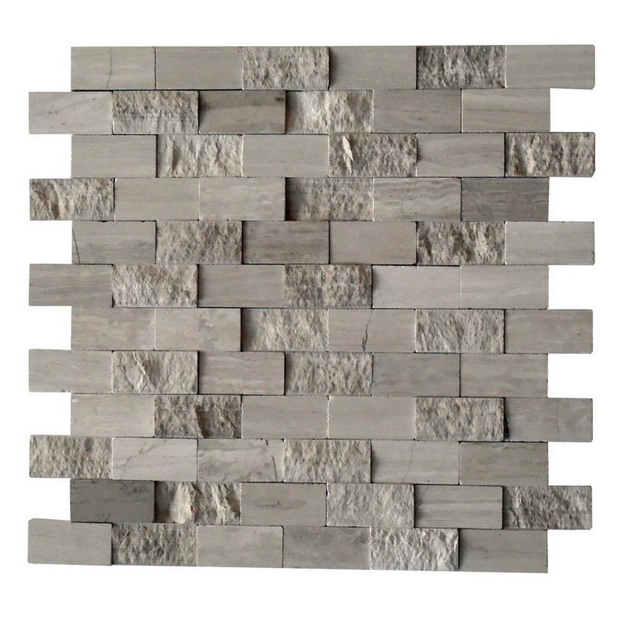 cci driftwood grey 12 in x 12 in multi finish natural stone marble wall tile
