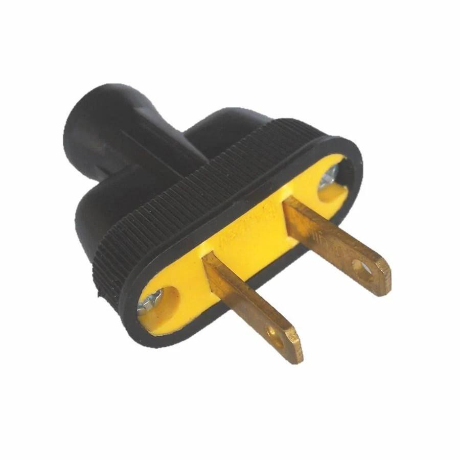 Shop Project Source 15 Amp 125 Volt Black 2 Wire Plug At