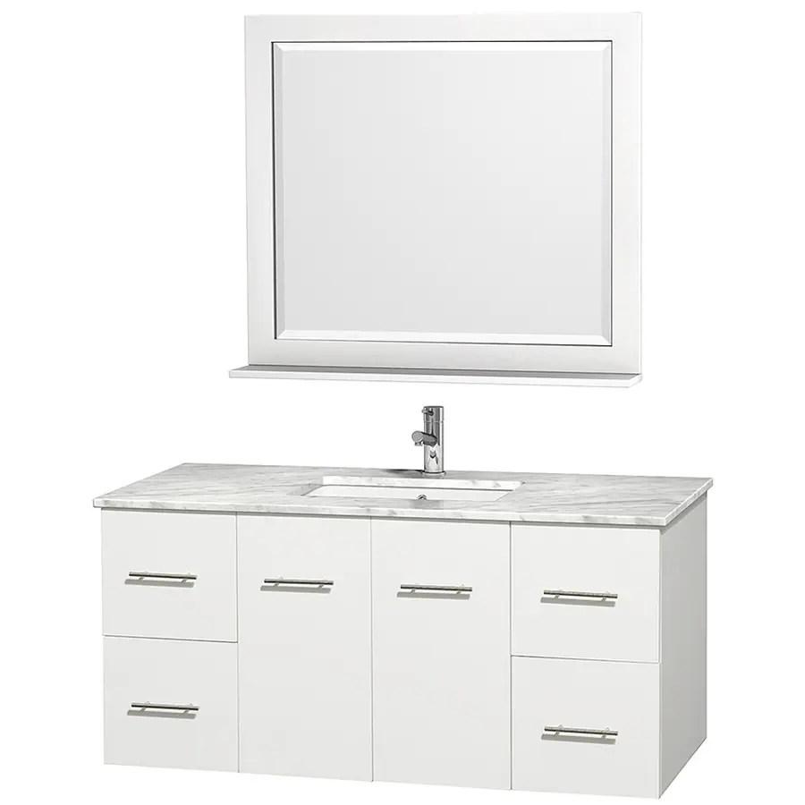 shop wyndham collection centra white undermount single sink