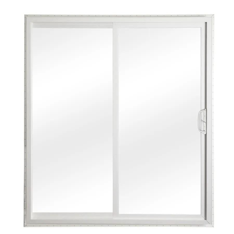 Reliabilt Clear Glass White Vinyl Sliding Patio Door With