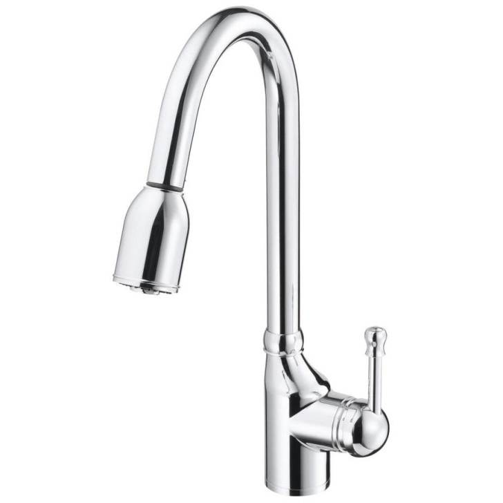 Shop Danze Melrose Chrome Handle Pull Down Kitchen Faucet