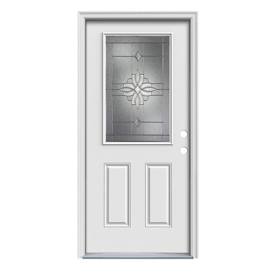 Therma-Tru Benchmark Doors Laurel Half Lite Decorative Glass Left-Hand Inswing Ready to Paint Fiberglass Pre-Hung Entry Door with Insulating Core (Common ...  sc 1 st  Google Sites & ᗑ】 Therma-Tru Benchmark Doors Laurel Half Lite Decorative Glass ...