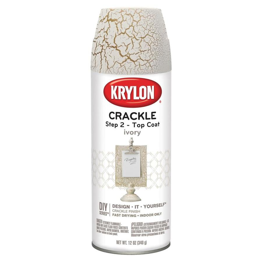 Shop Krylon White Crackle Craft And Home Decor Spray Paint