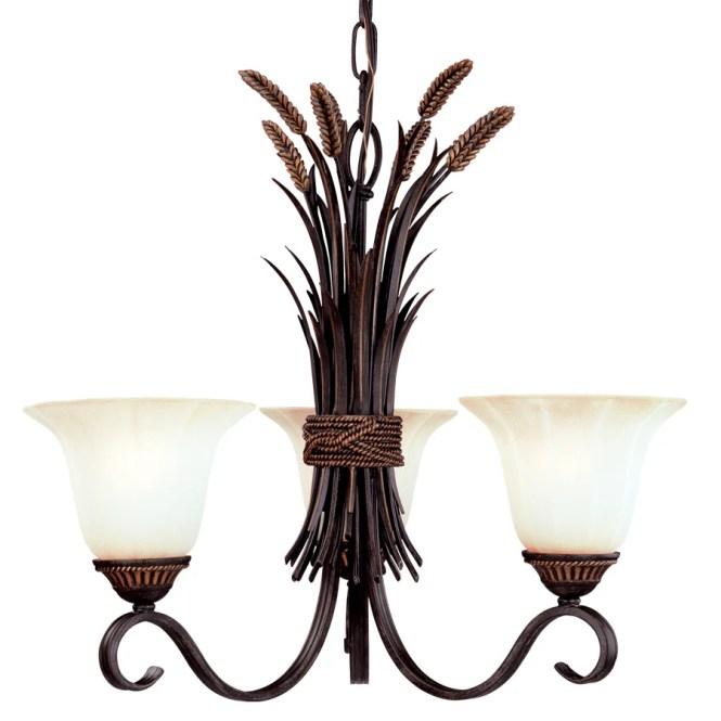 Portfolio 22 62 In 3 Light Antique Bronze Tinted Glass Standard Chandelier
