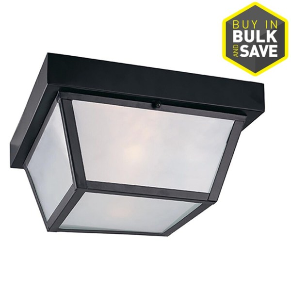 Shop Outdoor Flush Mount Lights at Lowes com Portfolio 10 37 in W Outdoor Flush Mount Light