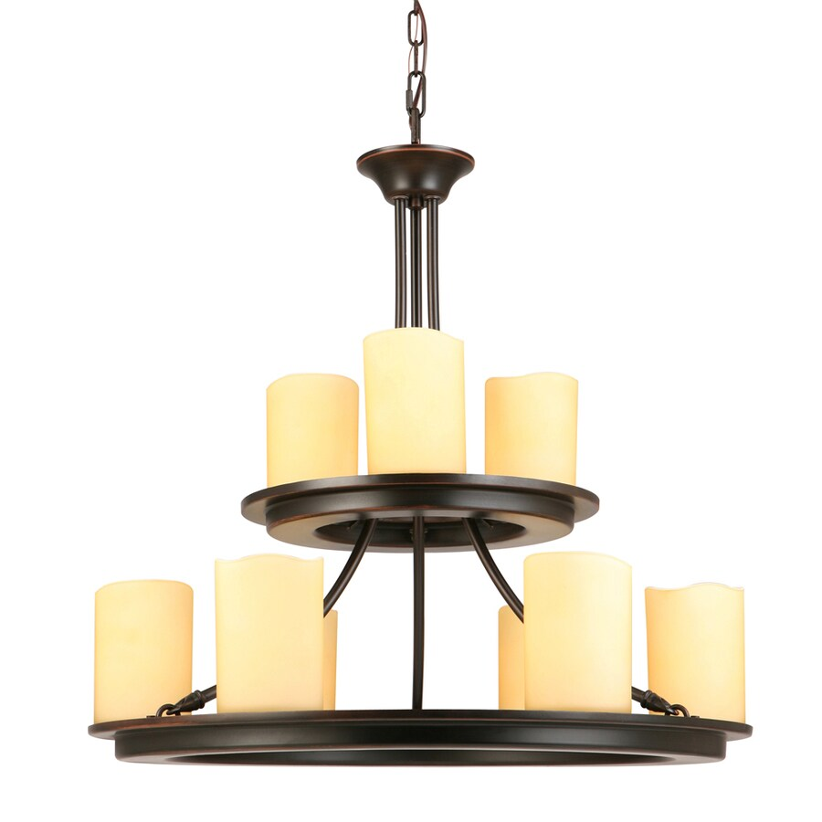 allen roth harpwell 9 light oil rubbed bronze traditional chandelier lowes com