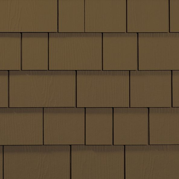 James Hardie 15.25-in x 48-in ColorPlus-HZ5 HardieShingle Chestnut Brown  Woodgrain Fiber Cement Shingle Siding Panel Siding at Lowes.com