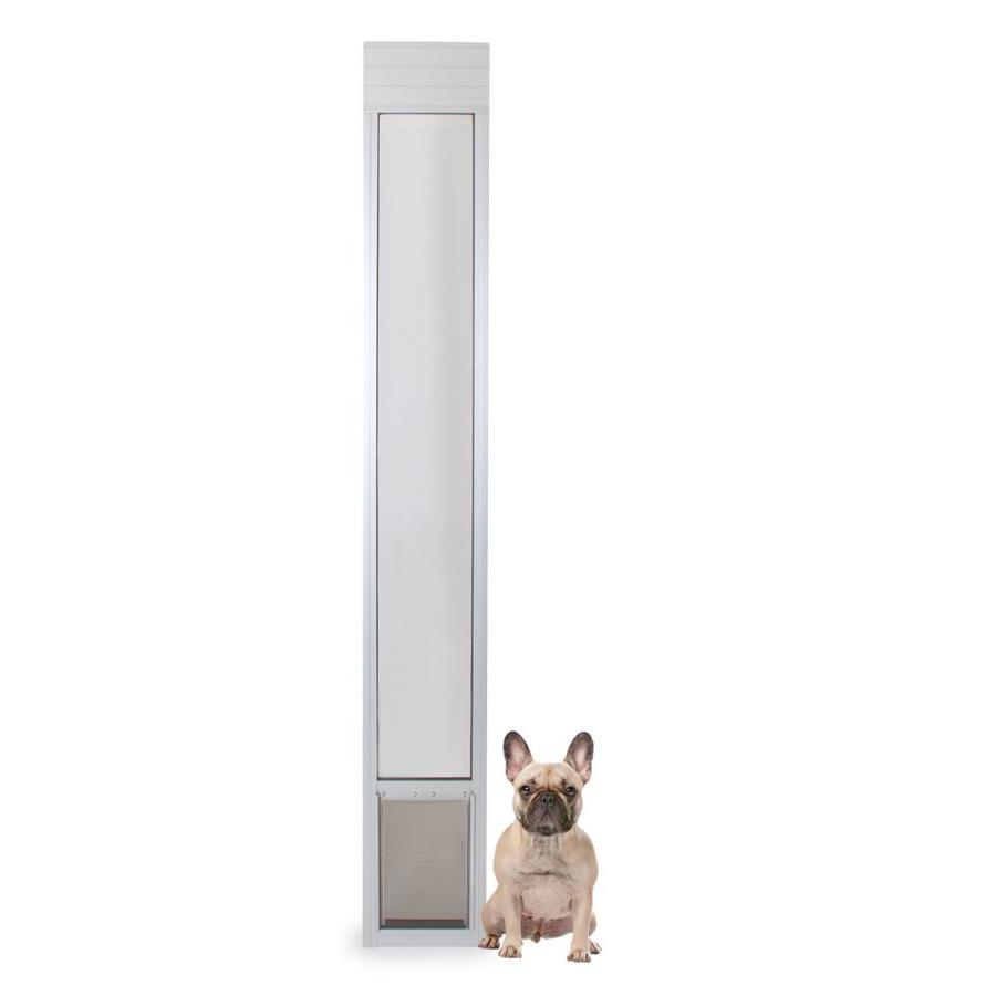 petsafe patio panel medium off white aluminum sliding pet door