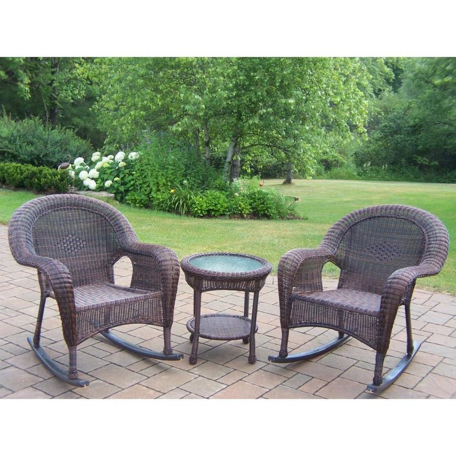 resin wicker patio conversation sets at