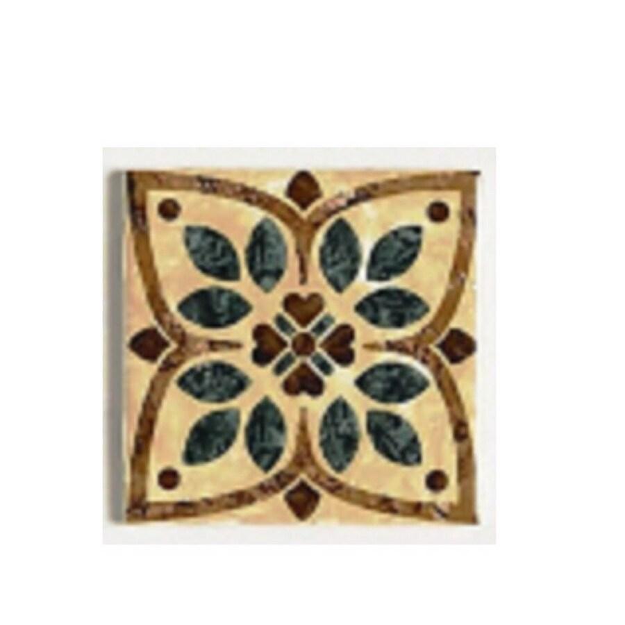 geometric ceramic square accent tile
