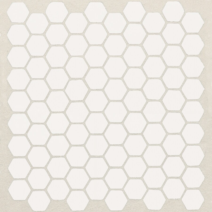 american olean satinglo hex 10 pack ice white 10 in x 12 in ceramic honeycomb tile common 10 in x 12 in actual 10 5 in x 12 5 in