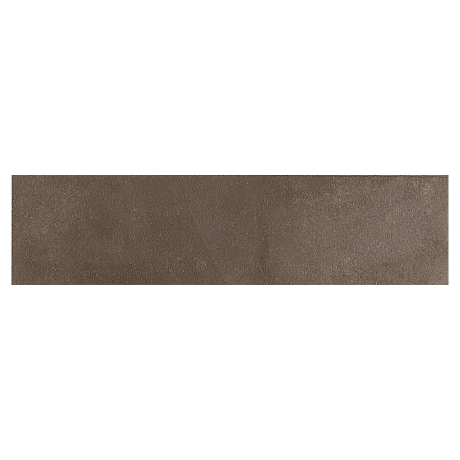 american olean 3 in x 12 in avenue one brownstone thru body porcelain bullnose tile at lowes com