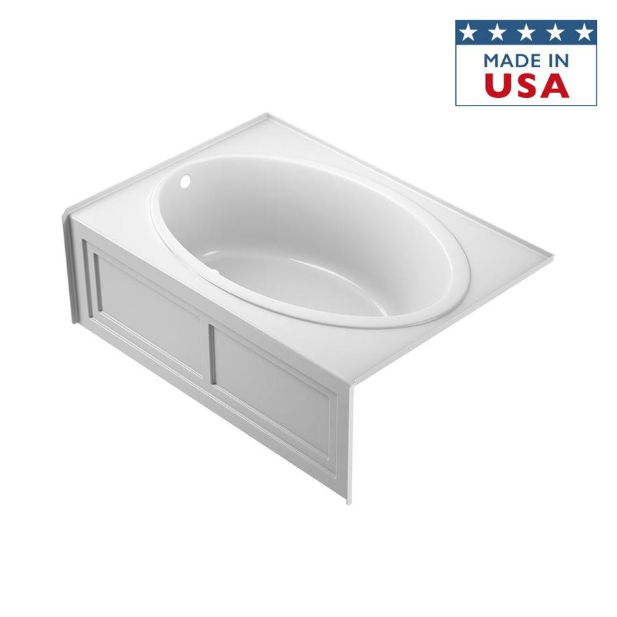 Shop Jacuzzi Nova 60 In White Acrylic Oval In Rectangle