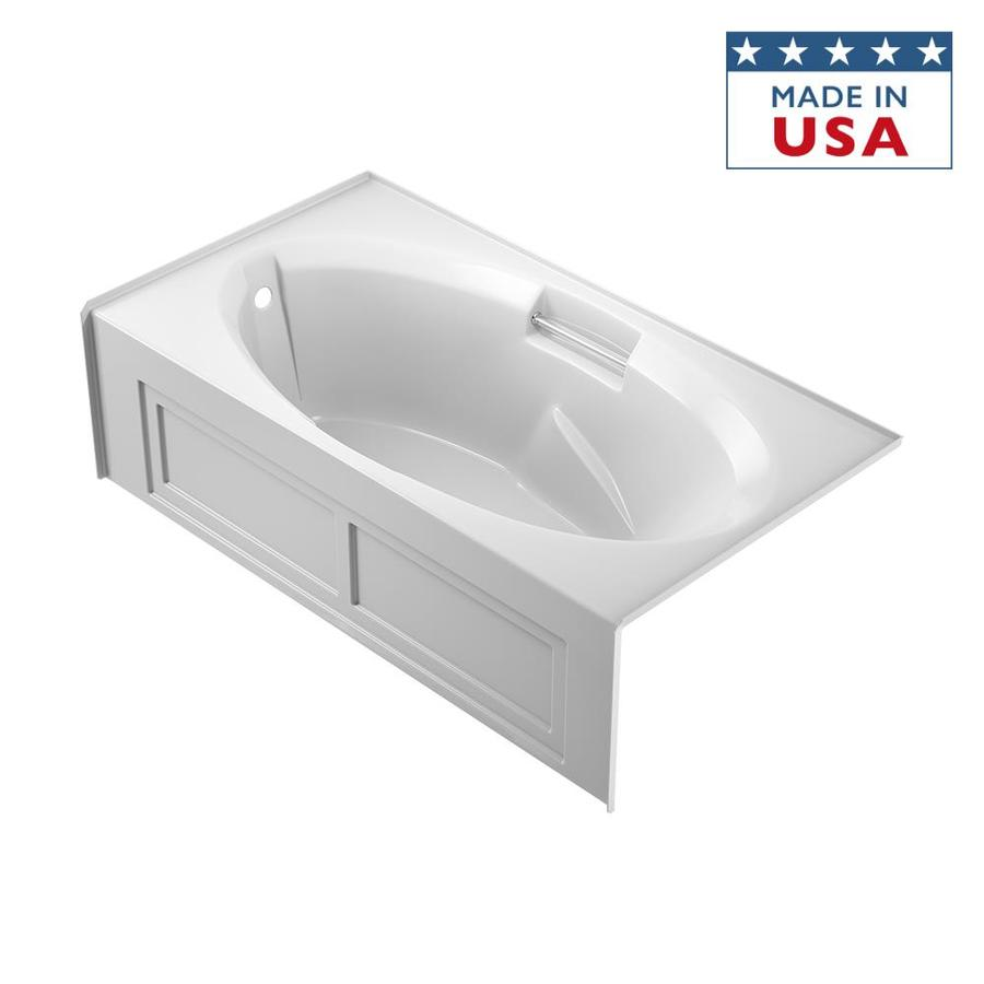 Shop Jacuzzi Nova 72 In White With Left Hand Drain At