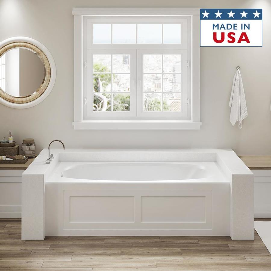 Shop Jacuzzi Amiga 72 In White With Right Hand Drain At