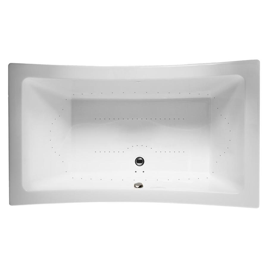 ᑐ Jacuzzi Allusion 72-in White Acrylic Drop-In Air Bath with Front ...