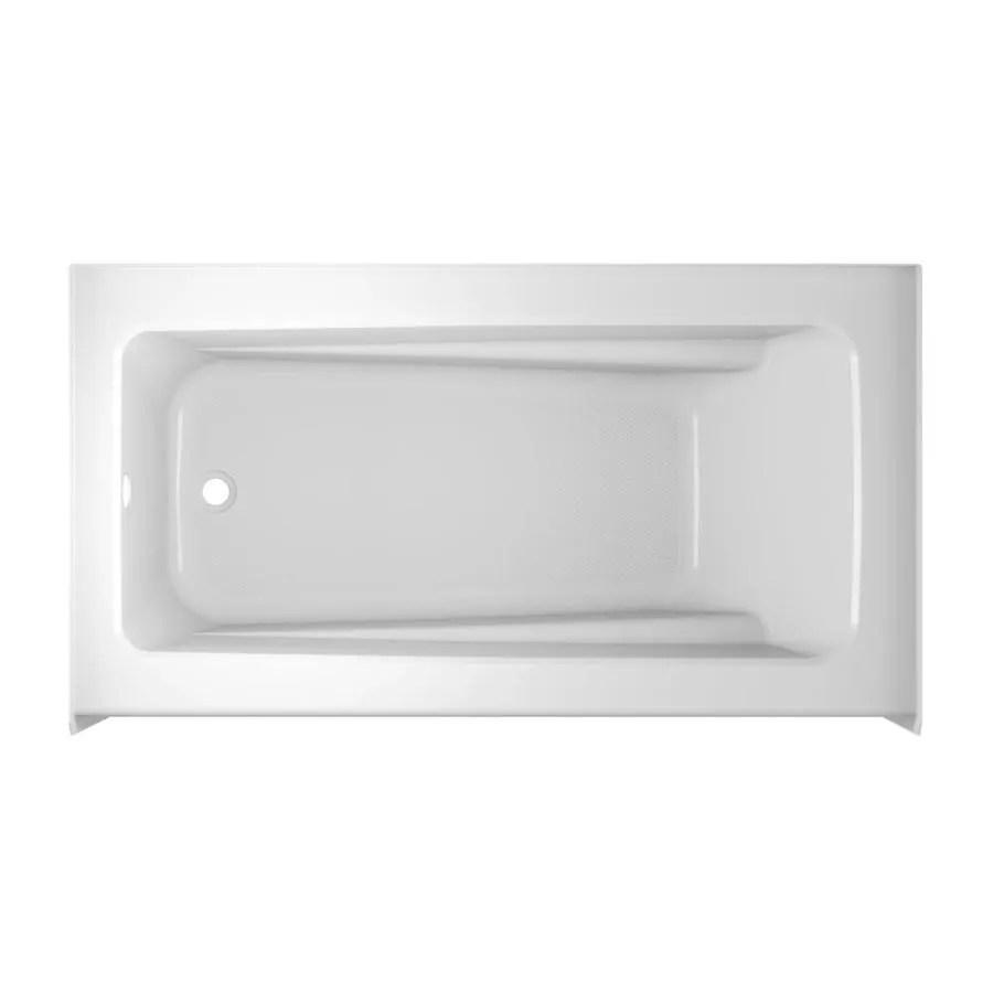 Shop Jacuzzi Primo 60 In White Acrylic Rectangular Left