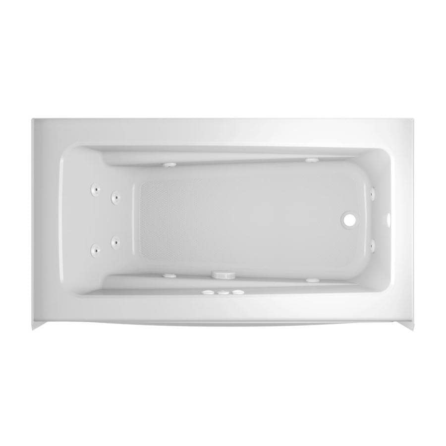 Jacuzzi Primo 60 In White Acrylic Rectangular Right Hand