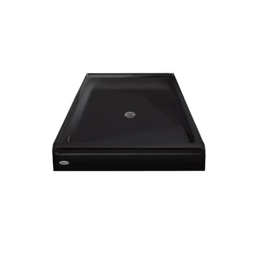 ୧ʕ ʔ୨ Jacuzzi PRIMO Black Acrylic Shower Base (Common: 48-in W x ...
