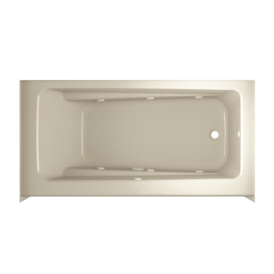ᓂ Jacuzzi Primo 60-in Almond Acrylic Skirted Whirlpool Tub with ...