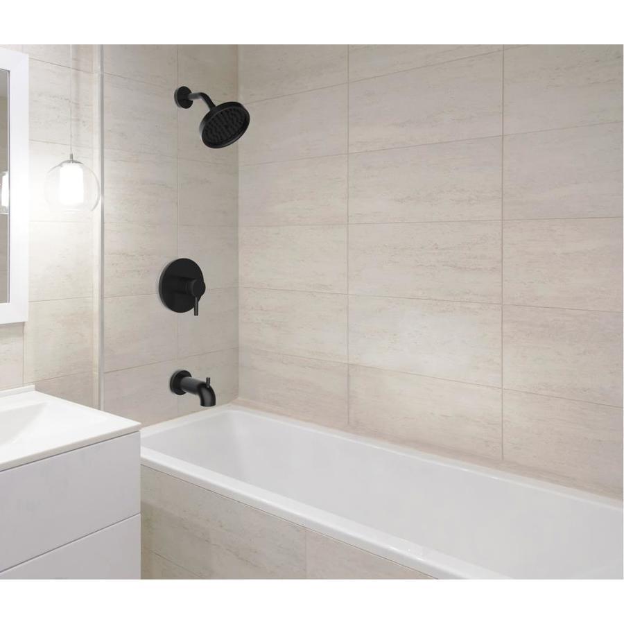 jacuzzi duncan matte black 1 handle residential mixer bathtub faucet