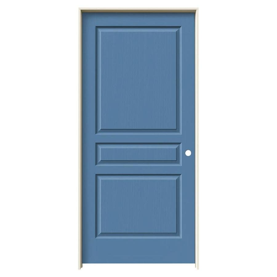 ₩ JELD-WEN Avalon Blue Heron 3-Panel Square Solid Core Molded ...