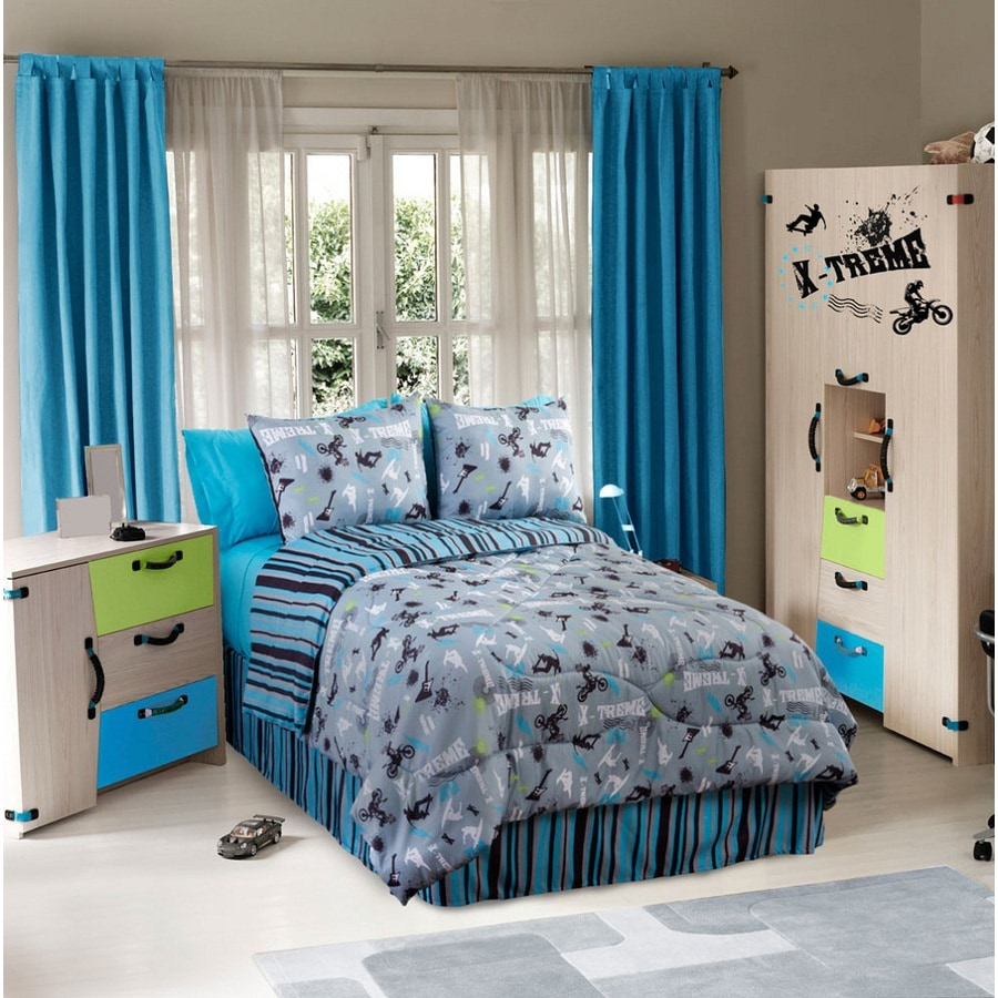 ᗔ On The Edge 4-Piece Graphite Queen Comforter Set - a842