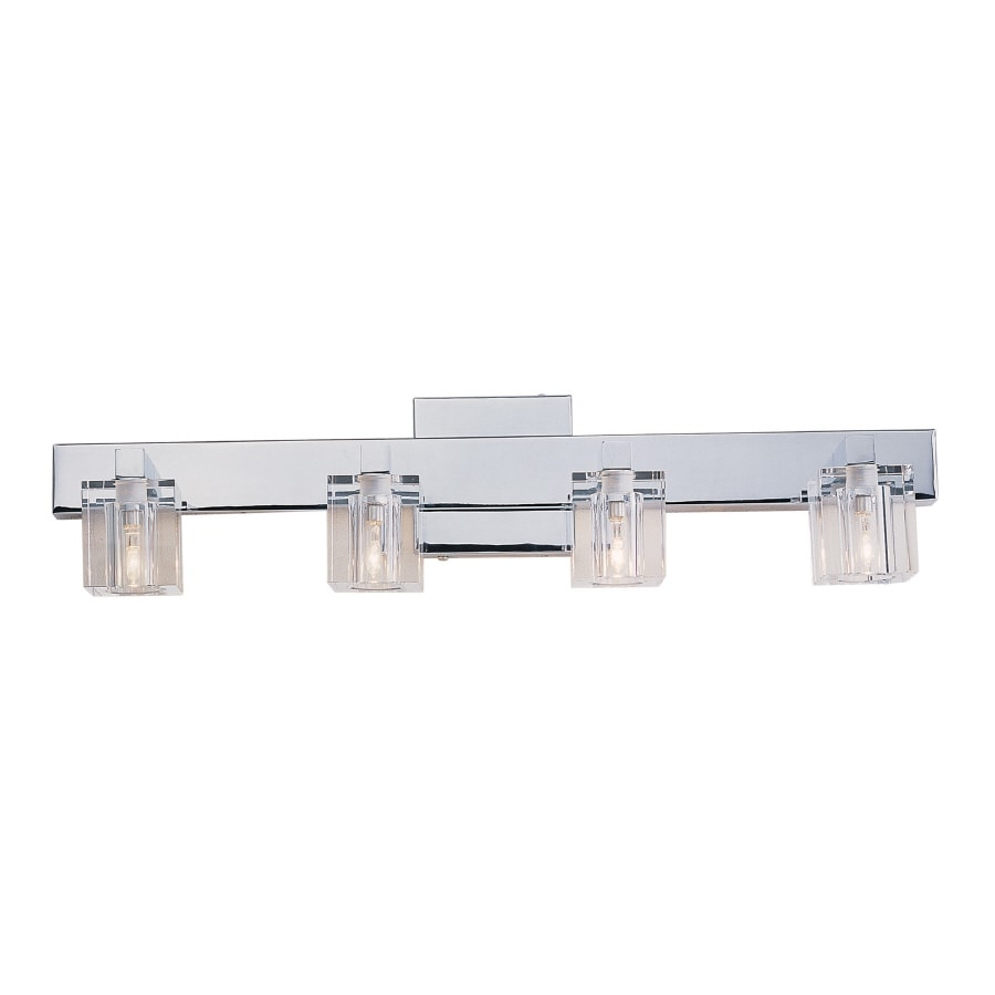 portfolio 4 light polished chrome bathroom vanity light