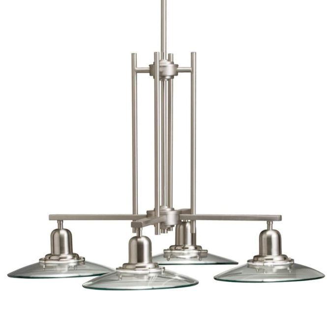 Allen Roth Galileo 4 Light Brushed Nickel Chandelier