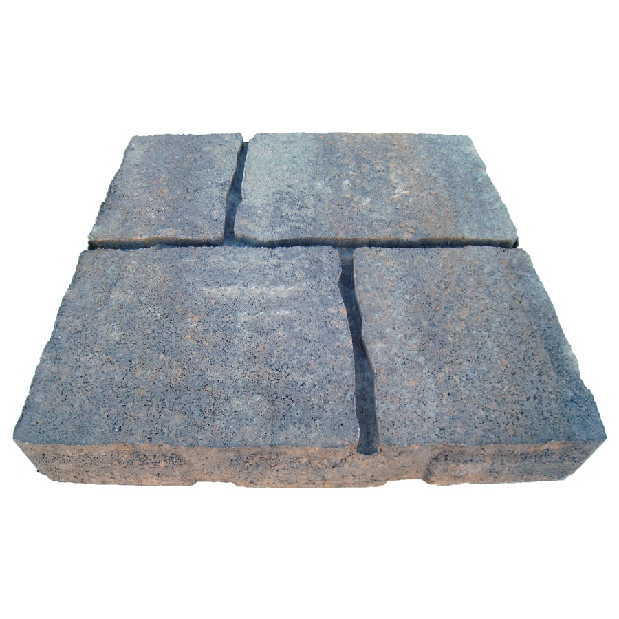 four cobble 16 in l x 16 in w x 2 in h patio stone lowes com