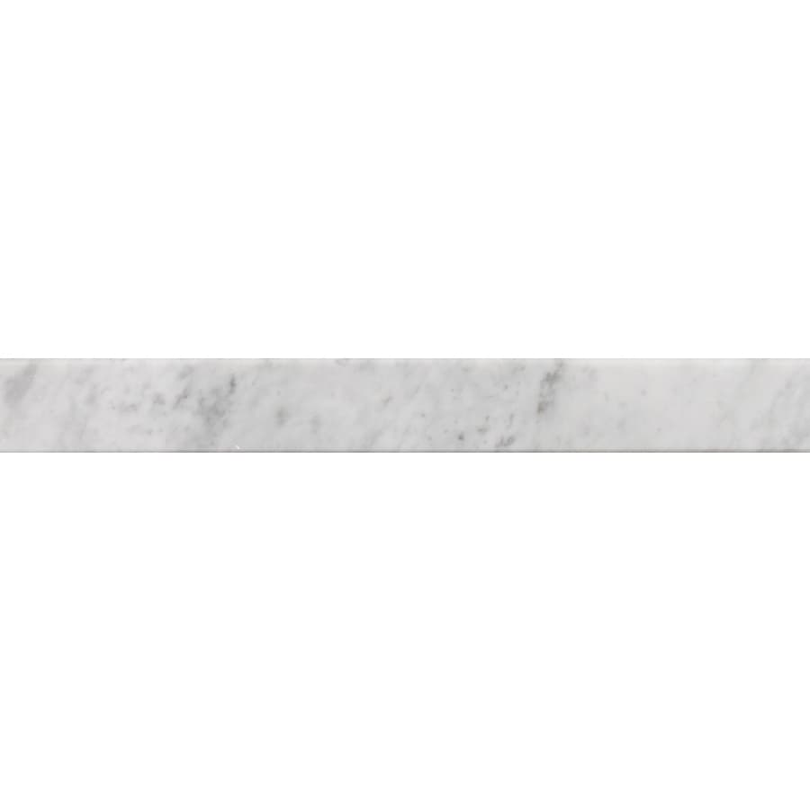american olean 4 in x 36 in carrera white natural marble threshold tile
