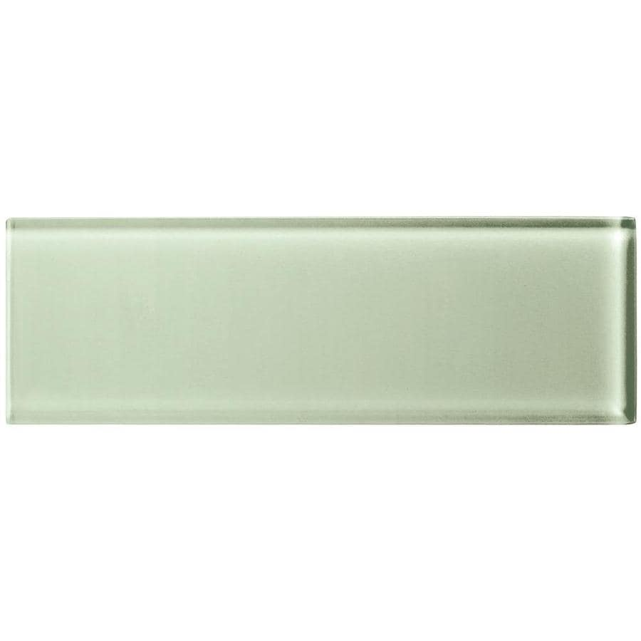 american olean color appeal 20 pack celedon 4 in x 12 in unglazed glass subway wall tile