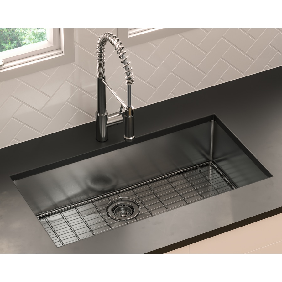 giagni trattoria dual mount 33 in x 22 in stainless steel single bowl 1 hole kitchen sink all in one kit